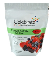 CELEBRATE® <br>Calcium Soft Chews - Berry <br>(90 count)