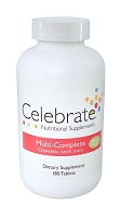 CELEBRATE® <br>MultiComplete Mango-Peach with iron<br>(180 tablets)