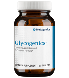 Glycogenics- 60 Tablets (Complete, Well-Balanced B-Complex Formula)